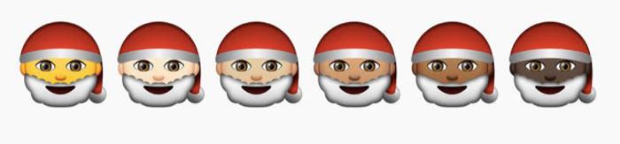 Emoticon Babbo Natale.Apple Sta Inserendo Le Nuove Emoji Di Diverse Razze Incluso Babbo Natale Nero