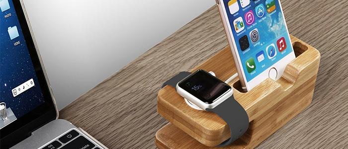 Apple watch stand in legno di bamb ad un super prezzo su for Cannette di bambu prezzo
